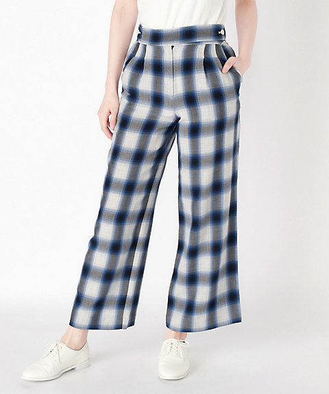 <PHEENY>Rayon ombre check pants(PS18-PT05)