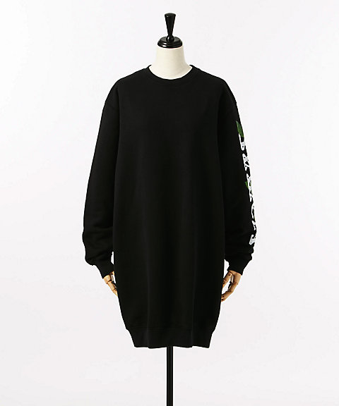 <OFF-WHITE>OTHELO FLOWER FLEECE DRESS(OWBA033E70030061088)