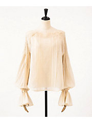 <mame>Pintuck Volumed Sheer Shirt(MM18SS-SH060)