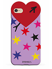<アイフォリア> HEART CASE MULTICOLOUR STARS スマートフォンケース(iPhone7/iPhone8対応)(14238)