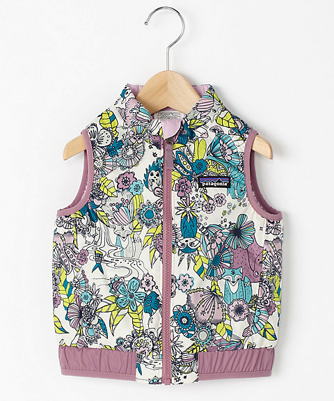 <patagonia> Baby Reversible Puff‐Ball Vest