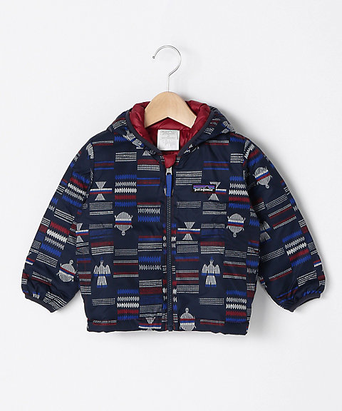 <patagonia> Baby Reversible Down Sweater Hoody
