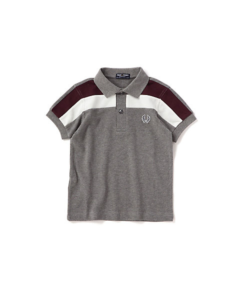 <FRED PERRY> カラーブロック パネル ピケシャツ