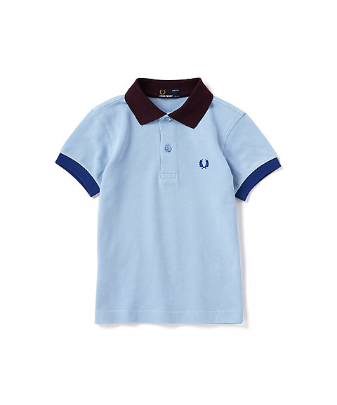 <FRED PERRY> カラーブロック ピケ シャツ