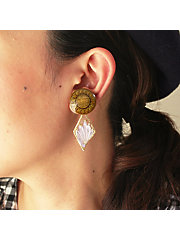 <patterie>LILY BUTTON EARRING(PR17SS-AC-P001191-E)