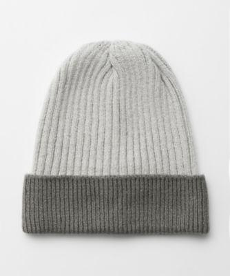 <三越・伊勢丹/公式> シルクニットロールアップ帽子(CA-0165) ライトグレー画像
