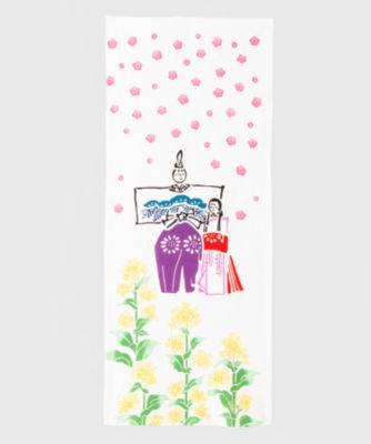<三越・伊勢丹/公式> お雛様(菜の花) 白画像