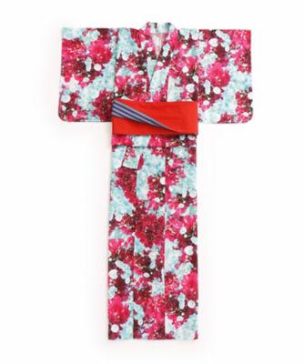 <三越・伊勢丹/公式> M / mika ninagawa x ISETAN YUKATA 婦人仕立上りゆかた 赤花柄画像
