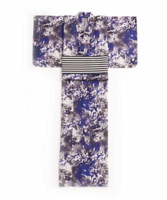 <三越・伊勢丹/公式> M / mika ninagawa x ISETAN YUKATA 婦人仕立上りゆかた 紺画像