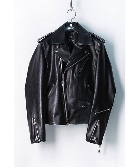<マスターマインド・ジャパン/mastermind JAPAN> ライダースジャケット(8S-3-MJ18P02-BL029) BLACK 【三越・伊勢丹/公式】