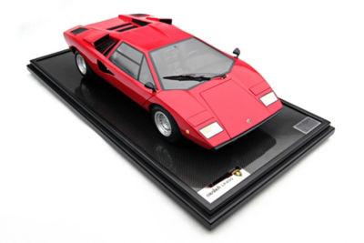 <三越・伊勢丹/公式> 送料無料!  ★<Amalgam>1:8スケールモデルカー Lamborghini Countach LP400(1974)Kerbsade Red Red