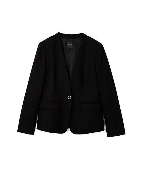 <BOSCH> トリアセウールサキソニーノーカラージャケット(0217250111) ブラック 【三越・伊勢丹/公式】