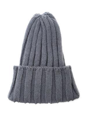 <三越・伊勢丹/公式> リブ編みニット帽(7174282006) チャコールグレー画像