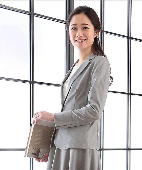 <組曲 S> コンパクトモクロディ テーラードジャケット(JKW2YM0313) グレー 【三越・伊勢丹/公式】