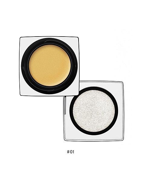 アールエムケー インジーニアス クリーム & パウダー アイズ #01 Silver Gold 3.0g