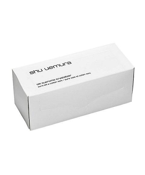 シュウウエムラ シルクスプリームクリスタルライザー 天然シルク&コットン 45枚入り
