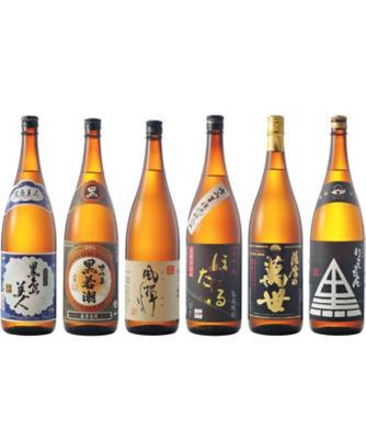 <三越・伊勢丹/公式> (DHL)人気商品を厳選!薩摩焼酎1升瓶飲みくらべ6本セット 06512画像