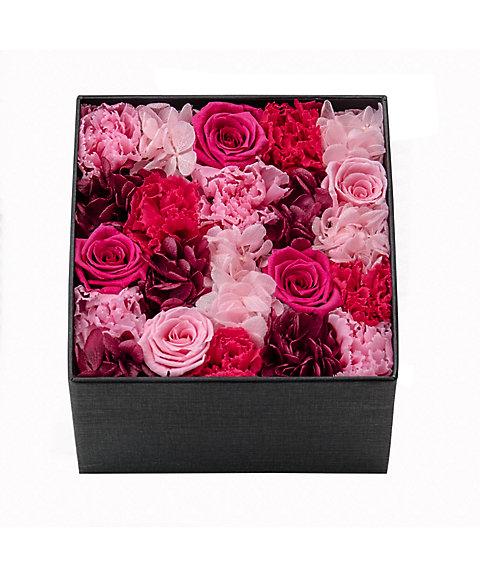 <Nicolai Bergmann Flowers & Design(Nicolai Bergmann)>【母の日】【18】2016年 プリザーブドフラワーボックスアレンジメント(ホットピンク)