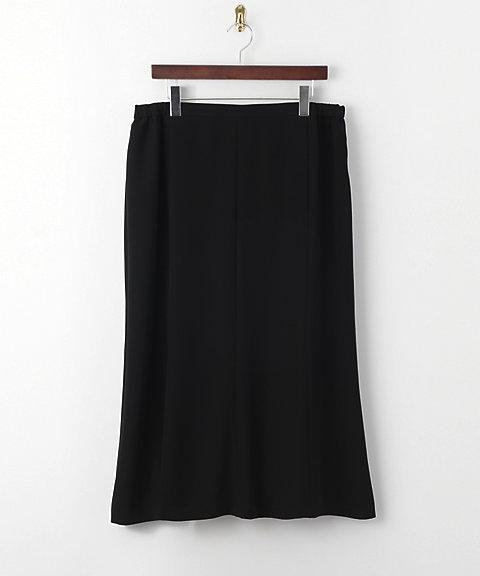 三越・伊勢丹オンラインストア<エクスキー> 大きいサイズ キルチナサテンスカート(120006009)(クローバー/クローバープラス)