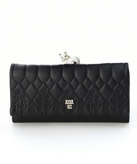 <アナ スイ(ANNA SUI)>「ハーレクイン」外口金かぶせ長財布(312180)