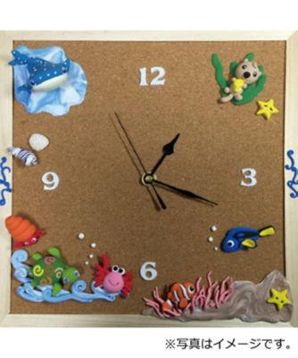 三越・伊勢丹/公式 【1日・短期講座】「74」ありっぴの粘土教室 海の生き物掛け時計