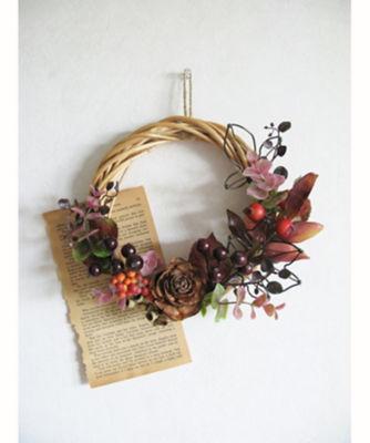 三越・伊勢丹/公式 【はじまりのカフェ】造花&ワイヤークラフトで作る秋色のリース