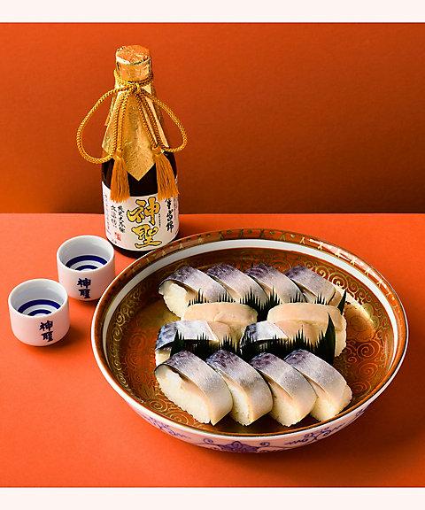 <三越・伊勢丹/公式> 【はじまりのカフェ】洛趣展企画 <いづう>x<山本本家>鯖姿寿司と日本酒の楽しみ方