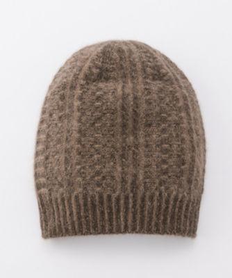 <三越・伊勢丹/公式> カシミヤxアンゴラリバーシブル帽子(60400647000) チャイロ画像