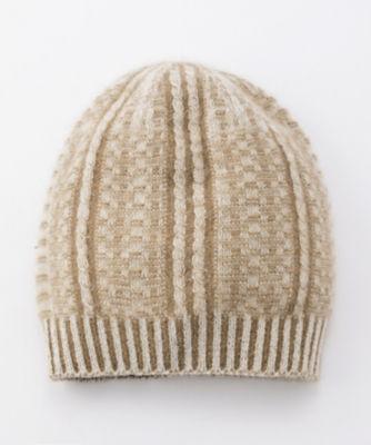 <三越・伊勢丹/公式> カシミヤxアンゴラリバーシブル帽子(60400647000) アイボリー画像