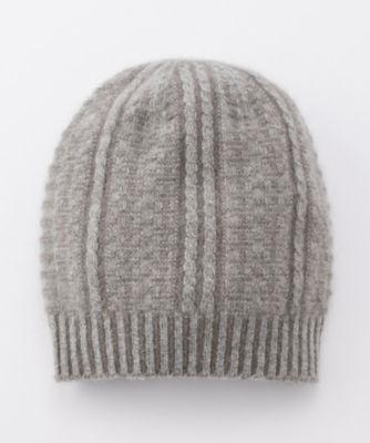 <三越・伊勢丹/公式> カシミヤxアンゴラリバーシブル帽子(60400647000) グレー画像