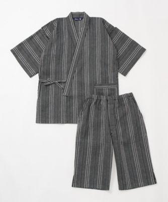 三越・伊勢丹/公式 <アムール/Amour> 甚平(AHJ262-62145) 05・ブラック