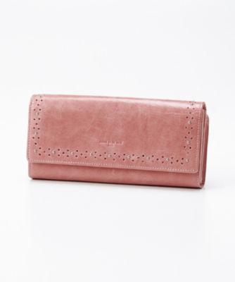 <三越・伊勢丹/公式> 「グレーヌ」外L字ファスナー長財布 (74469) ピンク画像