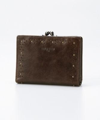 <三越・伊勢丹/公式> 「グレーヌ」二ツ折財布(74473) コゲチャ画像