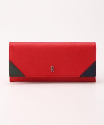 <三越・伊勢丹/公式> 「ヴェネツィア」かぶせ長財布(RBI-366) レッド画像