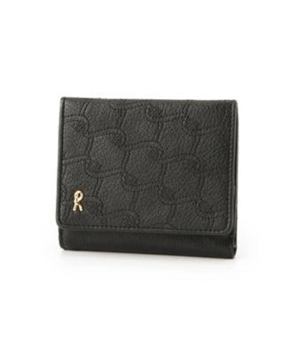 <三越・伊勢丹/公式> 「グローリア」ボックスコインケース付 二ツ折財布(RBI632) ブラック画像