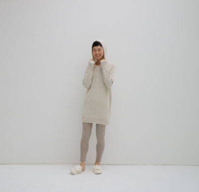 <三越・伊勢丹/公式> 毛(ヤク)混ホールガーメント薄手レギンス(443511) グレー画像