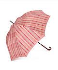 <三越・伊勢丹/公式><オンリー エムアイ> チェック柄 雨長傘(12811030-30) ピンク画像
