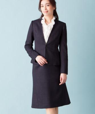 <三越・伊勢丹/公式> スカートセットスーツ ネービーブルー画像