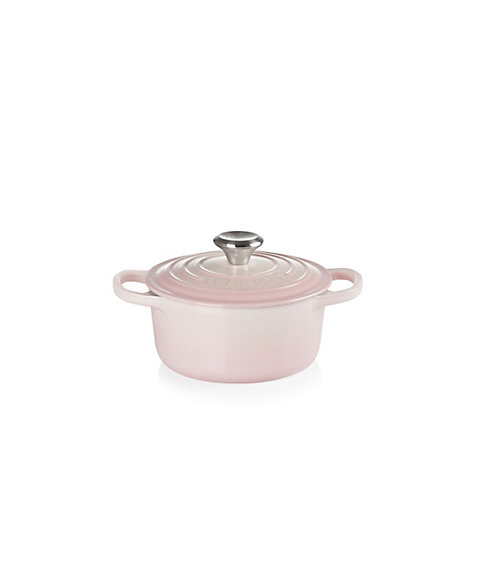 <LE CREUSET> シグニチャー ココット・ロンド シェルピンク