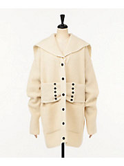 <TAN>LAMBS SAILOR COAT