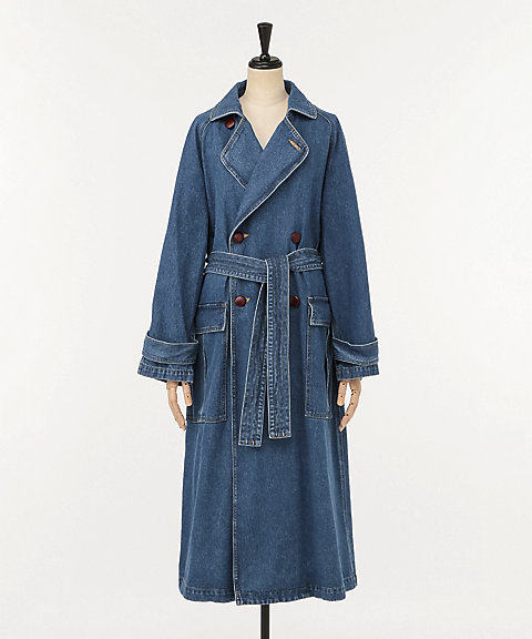 <ARCHI>LINDEN DENIM TRENCH COAT