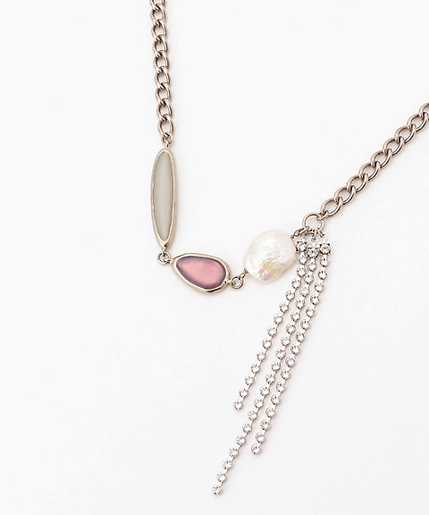 <ADER.bijoux>ブロックパール 淡水パールショートネックレス