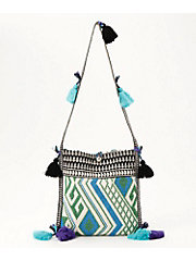 <BINDU>Cotton Ortega Jacquard Shoulder Bag(BBB-1667)