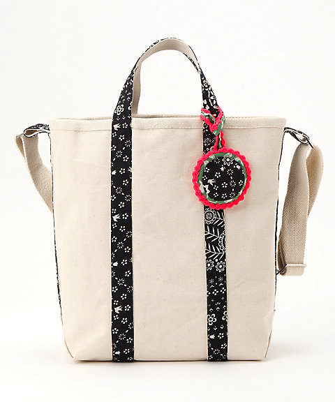<BINDU>Cotton Canvas Mid Tote(BBB-1638)