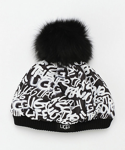 <UGG(R)>Glaffiti All Hat w Pom(18816)