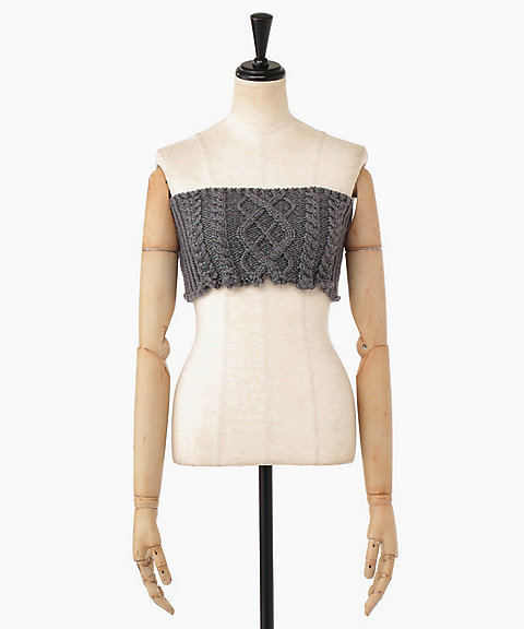 <Allege>Cable knit bustier