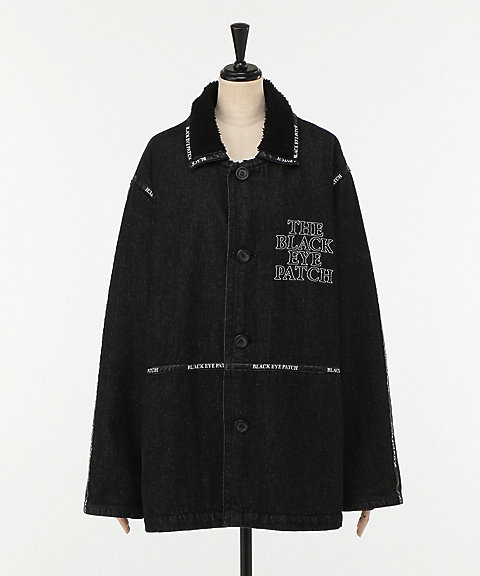 <BlackEyePatch>LOGO TAPE DENIM RANGH COAT