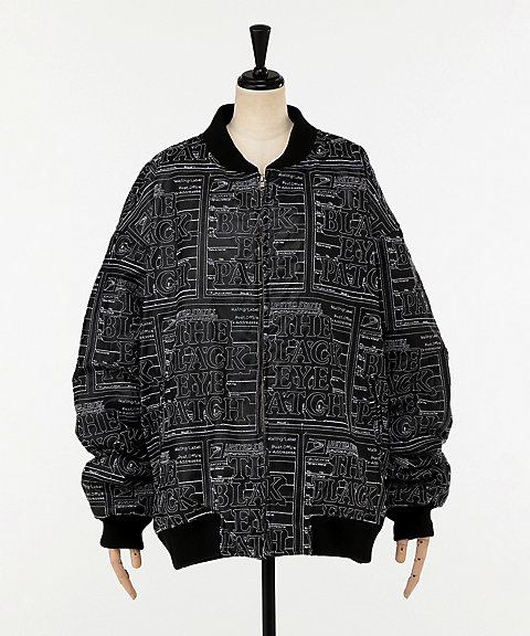 <BlackEyePatch>LABEL FAKE LEATHER JACKET