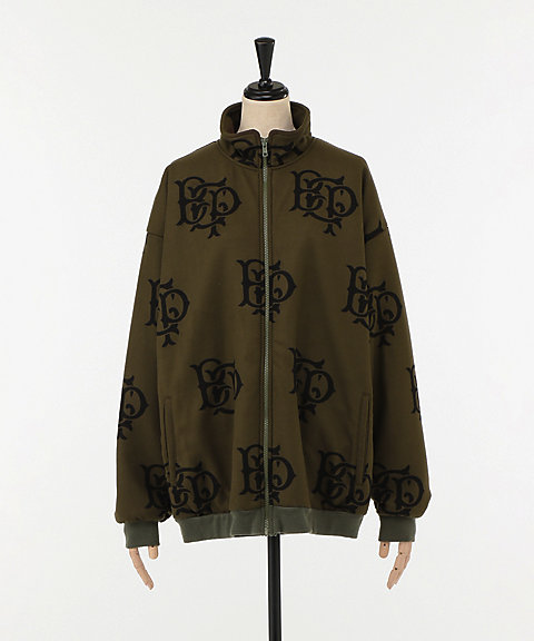 <BlackEyePatch>EMBLEM FLEECE JACKET