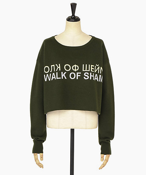 <WALK OF SHAME>CROP SWEATER